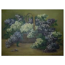 Vintage Polish Oil Painting, Still Life Signed Edward DUDZINSKI (1914), 52 x 70 cm