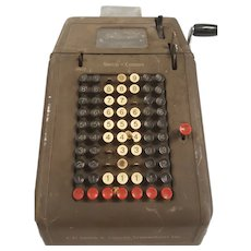 Vintage 1930's Museum Collectors Item, J C Smith & Corona USA Iron Calculating Machine