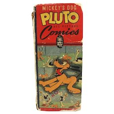 Vintage 1943 Walt Disney Mickey's Dog Pluto TALL Comics Picture Book, Hardcover