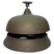 Antique Bronze Table Bell, H 7.5 cm, D 9.2 cm