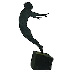"Signed Numbered Modern Steel Art Sculpture, Uri Dushy, ""Freedom to Fly"", H 35 cm"