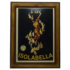 Vintage French Mixed-Media Lithographic Poster, Isolabella, Vercasson Paris, 42.5 x 30 cm