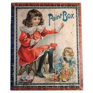 Antique Victorian Child Painting Set Great Graphics Complete Original