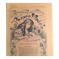 """Original """"La Poupee Modele"""" 1906 with Supplements Pattern Pieces"""