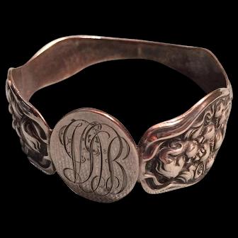 Art Nouveau Napkin Ring Unger Bros Cupid's Nosegay