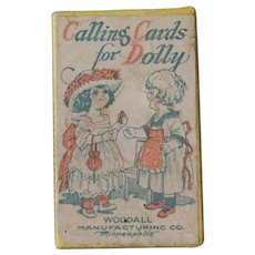 """""""Calling Cards For Dolly"""" Original Box with Bisque Doll"""