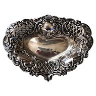 British Sterling Pierced Heart Pin Tray