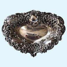 British Sterling Pierced Heart Pin Tray