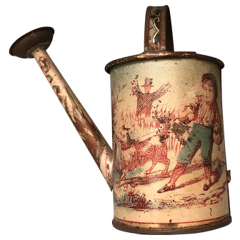 Very Early Toy Tin Litho c.1865