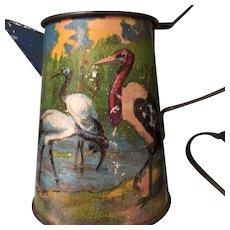 Toy Tin Litho Colorful Birds