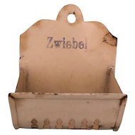 Metal Zwiebel Pierced Wall Box German Kitchen Miniature