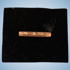 Little 14k Bar Pin Perfect for Antique Doll