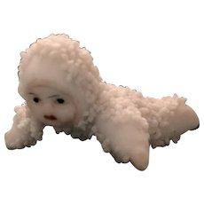 Snowbabies  German Snow Baby on its Tummy