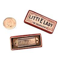 "Miniature Toy Harmonica ""Little Lady"" Hohner Original Foil Box"