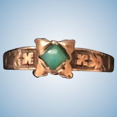 Baby Ring Turquoise Gold Antique Doll