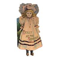 Antique Doll Die Cut Book McLoughlin Bros. c.1880s