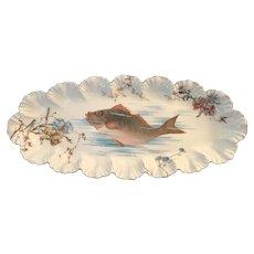 A.K. Limoges Fish Platter c.1895