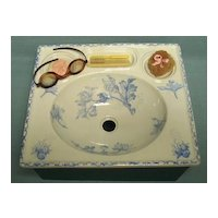 Antique French Doll Sink Mint Condition with Accessories c.1880