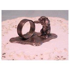 Vintage Figural Bear Child's Napkin Ring Unusual Design - Red Tag Sale Item