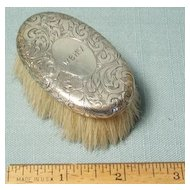 Antique Tiffany Sterling Baby Brush Deco Engraving