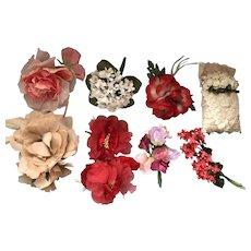 Vintage Silk Flowers Velvet Tulle Large & Lovely Collection