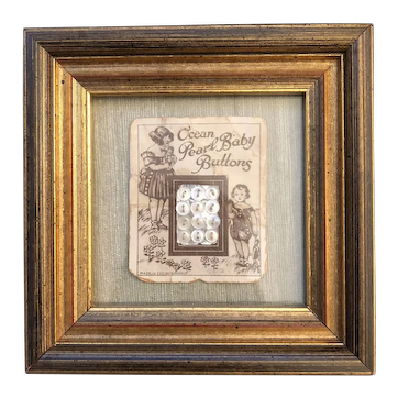 Baby Buttons on Original Card Framed
