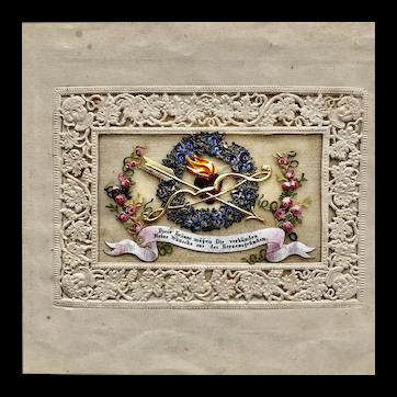 German Valentine dated 1848