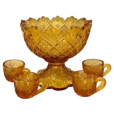 Toy Glass Punch Set Amber Westmoreland