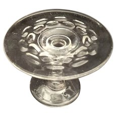 Toy Glass Scarce 'Baby Thumbprint' Small Cake Plate