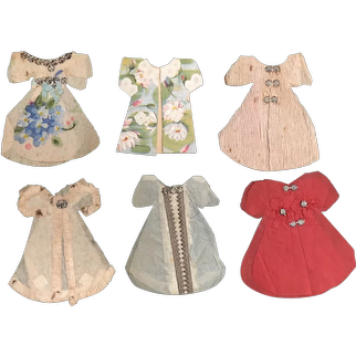Paper Doll Wardrobe Crepe Paper c.1875