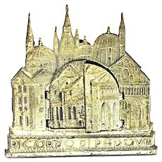 Ricordo di Padova Saint Antique Metal Miniature for House Family Altar Italy