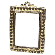 Beautiful Golden Tin Frame Mirror Dollhouse Antique german 1900's