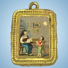 Antique German doll house miniature decorative Ormolu Home picture
