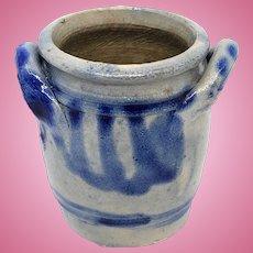 German Westerwald Pottery Salt Glazed Crock Dollhouse 1890s