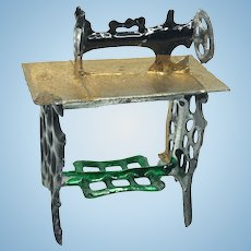 Sewing Machine Pewter Dollhouse german antique miniature