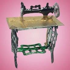 Sewing Machine Pewter Dollhouse german antique miniature