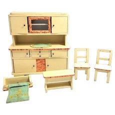Dollhouse Doll Kitchen Furniture 1930's german vintage