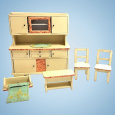 Dollhouse Doll Kitchen Furniture 1930's german vintage