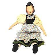 Vintage german Cloth Doll Folk Art 1930's or older
