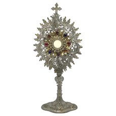 "6 ⅜"" Monstrance for Home Altar, Large Scale Dollhouse or Doll Accessory"