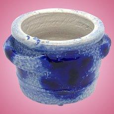 German Westerwald Pottery Salt Glazed Crock Dollhouse 1910s