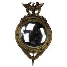 XL Ornate Eagle Mirror Convex Glass Duck Federal Style Wood Bulls-eye WOW