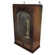 Mid Century Kitchen Apothecary Bathroom Wall hanging Cabinet Beveled glass