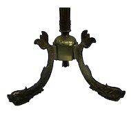 Standing Hall Tree Coat Rack Ornate Brass Hollywood regency Fish Base Lovely