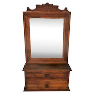 Vintage Wooden Kitchen Apothecary Bathroom Wall Cabinet Beveled glass Mirror