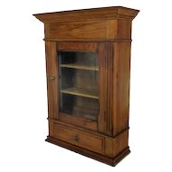 Vintage Wood Kitchen Apothecary Bathroom Wall Cabinet Beveled glass Door Lovely