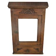 Gorgeous Kitchen Apothecary Bathroom Wall Cabinet Hand Carved Wood Flowers WOW