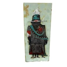 Wall Plaque Glazed Ceramic Tile Giant Arno Brys for Amphora Vandeweghe Funky