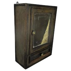Vintage Kitchen Apothecary Bathroom Wall Cabinet Mirror Drawer