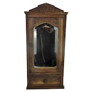 Art Deco Kitchen Apothecary Bathroom Wall Cabinet Oval Beveled Glass Mirror